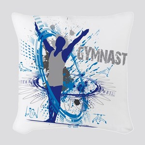 Male_Gymnast Woven Throw Pillow