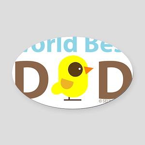 world best dad Oval Car Magnet