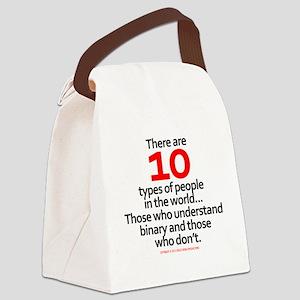 binary_whiteshirt Canvas Lunch Bag