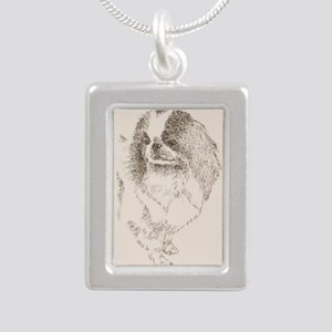 Japanese_Chin_KlineZ Silver Portrait Necklace