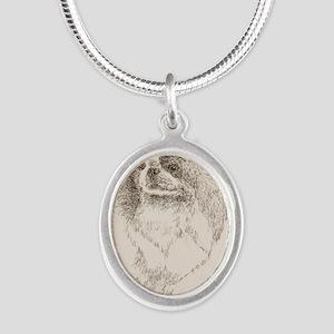 Japanese_Chin_KlineZ Silver Oval Necklace