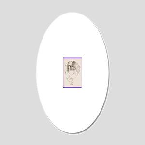 Japanese_Chin_KlineZ 20x12 Oval Wall Decal