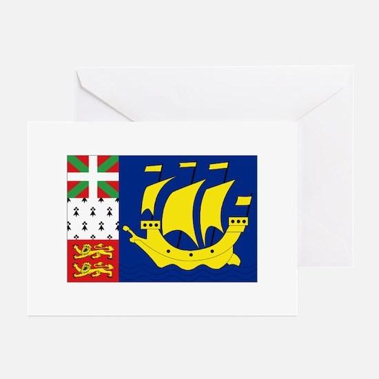 Saint-Pierre et Miquelon flag Greeting Cards (Pack