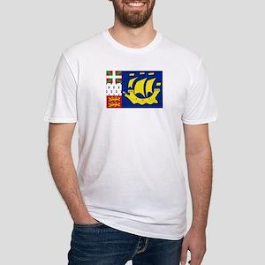 Saint-Pierre et Miquelon flag Fitted T-Shirt