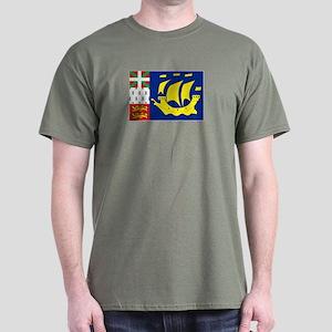 Saint-Pierre et Miquelon flag Dark T-Shirt