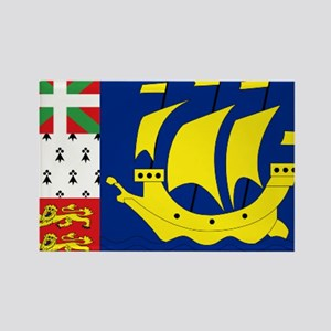 Saint-Pierre et Miquelon flag Rectangle Magnet