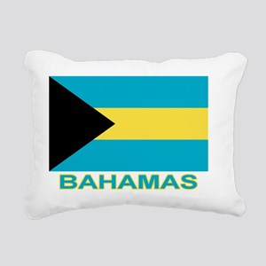 bahamas-flag-labaled Rectangular Canvas Pillow