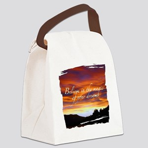 Believe Sunset Canvas Lunch Bag