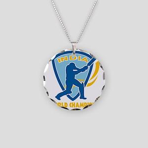 cricket india world champion Necklace Circle Charm
