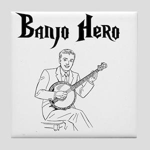 Banjo Hero Black Tile Coaster