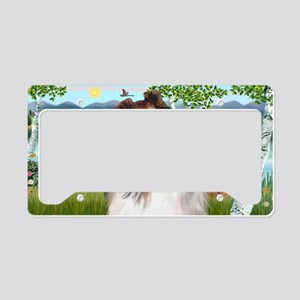 LIC-Birches-Collie License Plate Holder