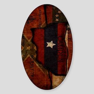 camden-central flag ipad case Sticker (Oval)