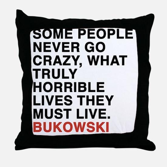 bukowski6 Throw Pillow