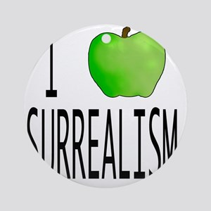 I apple SURREALISM copy Round Ornament