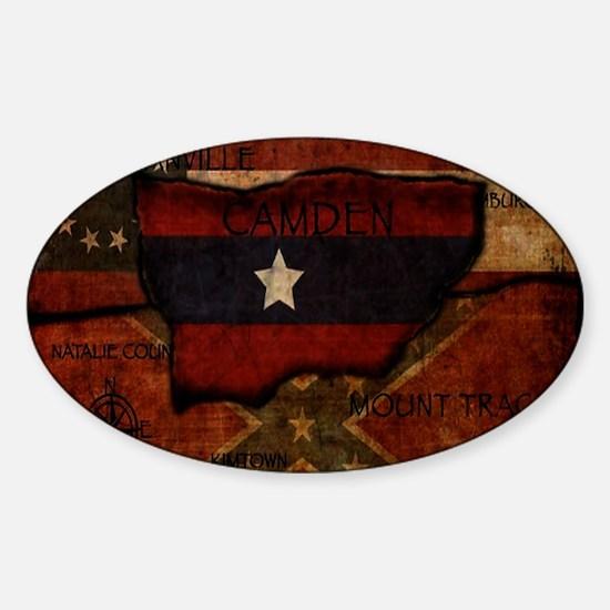 camden-central flag print card Sticker (Oval)