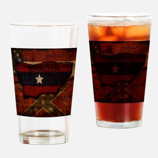 camden-central flag print card Drinking Glass