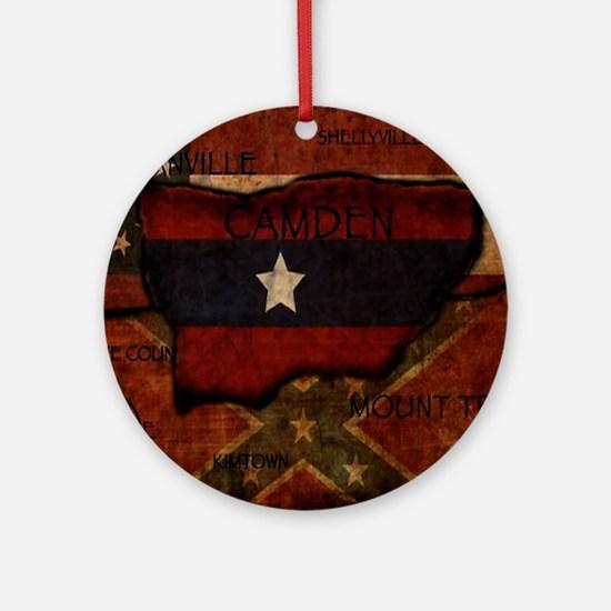 camden-central flag print card Round Ornament