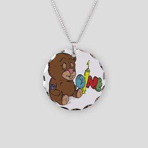 Bear-oine 2 Necklace Circle Charm