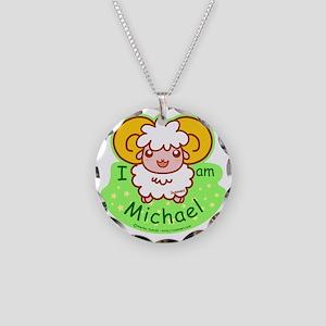 sheep_michael Necklace Circle Charm
