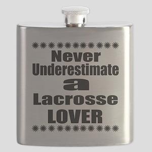 Never Underestimate Lacrosse Lover Flask