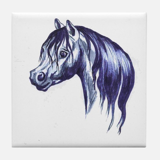 Welsh pony head Jeans art Tile Coaster