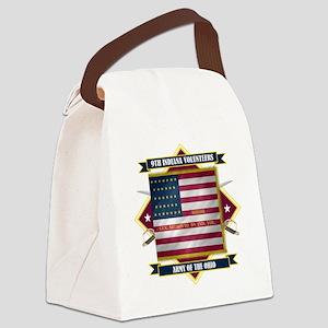 9th Indiana (Diamond) Canvas Lunch Bag