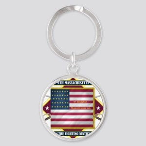 9th Massachusetts (Diamond) Round Keychain