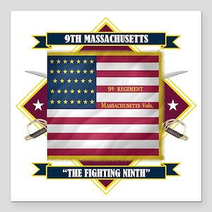 "9th Massachusetts (Diamo Square Car Magnet 3"" x 3"""