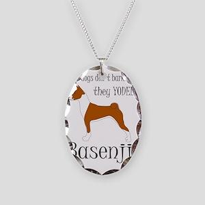 Basenji - They Yodel Necklace Oval Charm