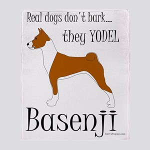 Basenji - They Yodel Throw Blanket