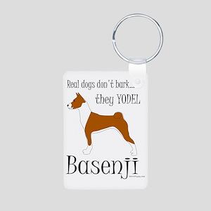 Basenji - They Yodel Aluminum Photo Keychain