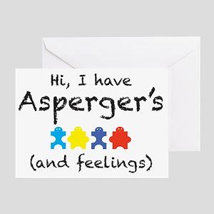 aspergersfeelings Greeting Card