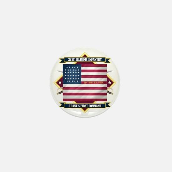 21st Illinois (Diamond) Mini Button