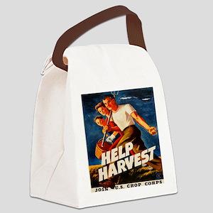 Help Harvest 10x10 Canvas Lunch Bag