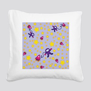 twinkle_twinkle_purple Square Canvas Pillow
