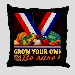 Grow your own 10x10 Throw Pillow