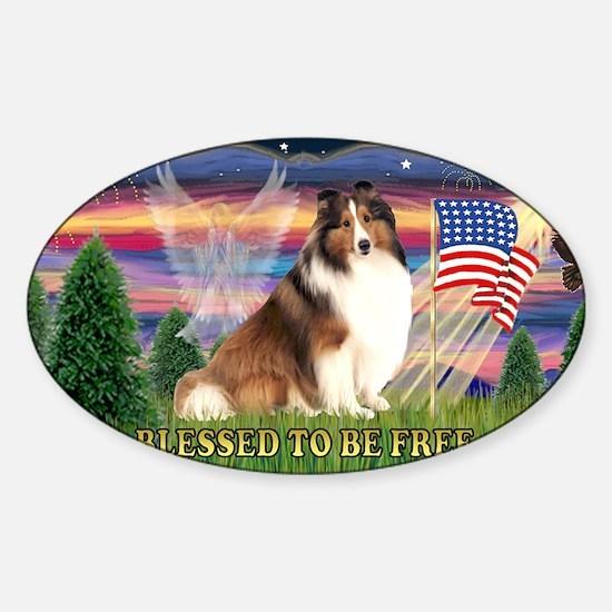 LIC-Blessed-ShetlandSheepdog7 Sticker (Oval)