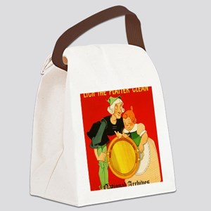 Lick the Platter Clean Canvas Lunch Bag