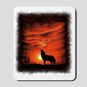 Coyote Howling Mousepad