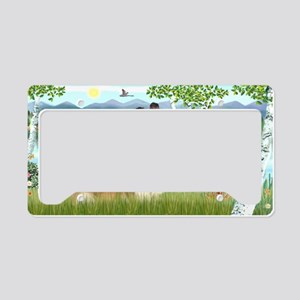 LIC-Birches-Sheltie7 License Plate Holder