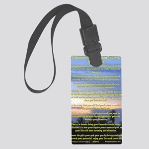 23x35Affirmations Large Luggage Tag