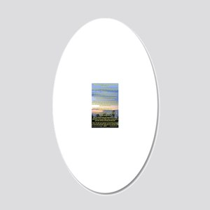 23x35Affirmations 20x12 Oval Wall Decal