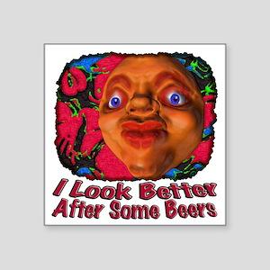"SomeBeers Square Sticker 3"" x 3"""