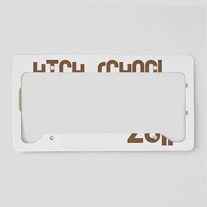funkygradhigh2011green License Plate Holder