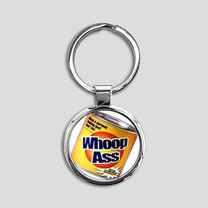 whoopass Round Keychain