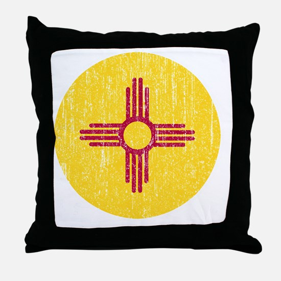 NM_round_shirt Throw Pillow