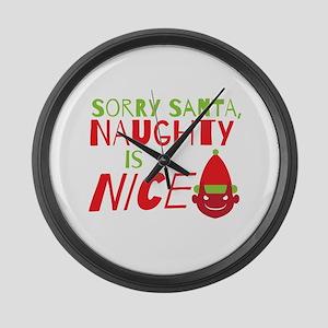 Sorry Santa Naughty is NICE. Christmas design Larg
