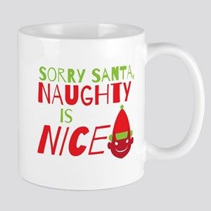 Sorry Santa Naughty is NICE. Christmas design Mugs