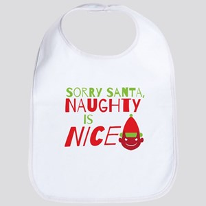 Sorry Santa Naughty is NICE. Christmas design Bib