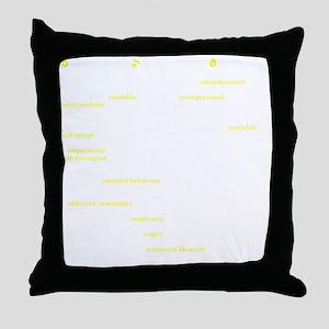 Bored_back Throw Pillow